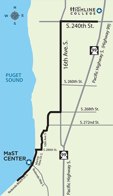 Highline College MaST Center location map