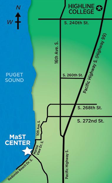 Highline College MaST Center Map