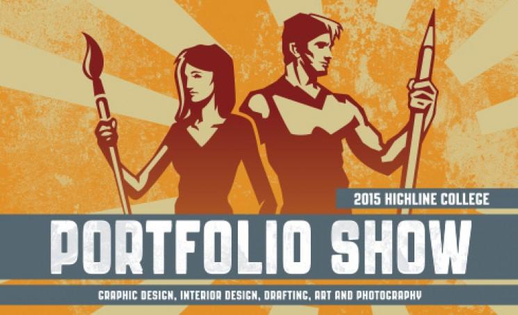 Highline College Art and Design Portfolio Show 2015 poster