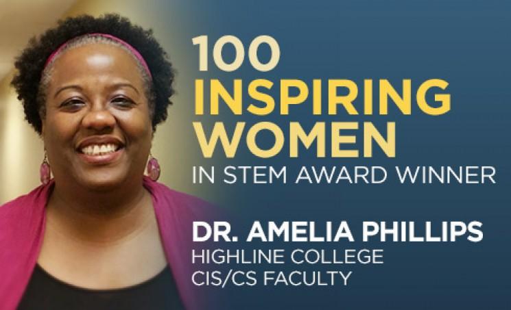 Highline College STEM Award Winner Dr. Amelia Phillips