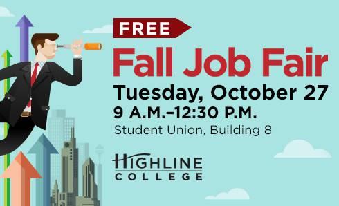 Fall Job Fair poster