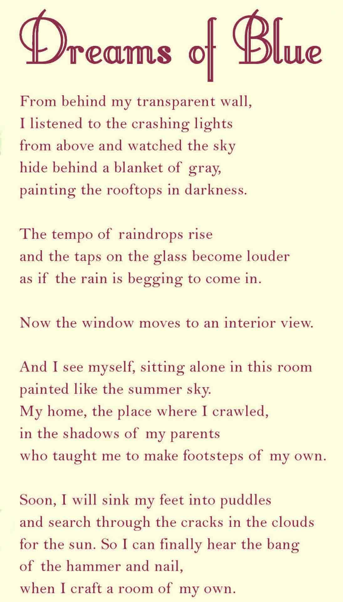 Dreams of Blue by Daylen A. Nguyen