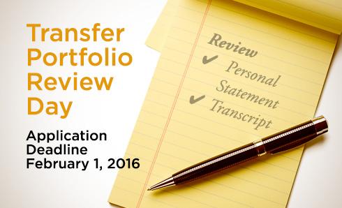Highline College Transfer Portfolio Review Day application deadline February 1, 2016