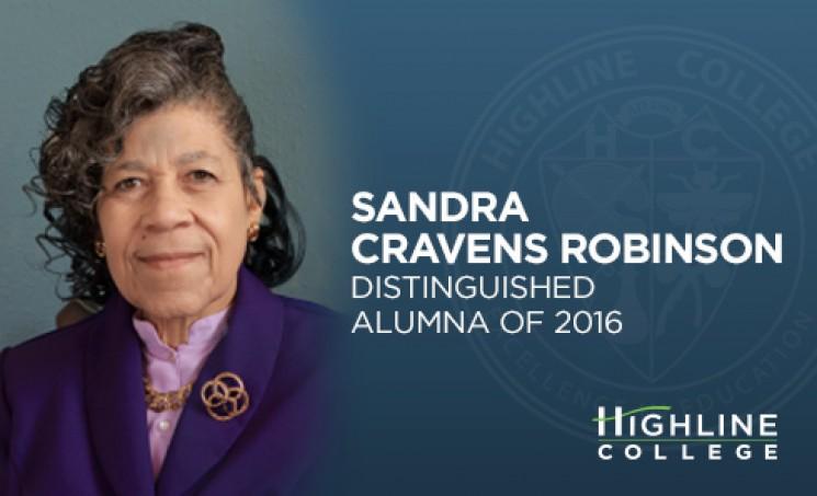 Highline College distinguished alumna of 2016, Sandra Cravens Robinson