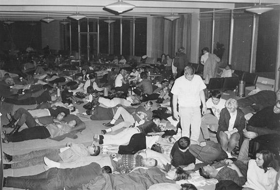 Highline College Overnight Registration Lines 1965