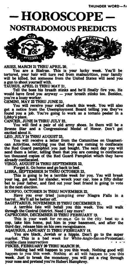 Highline Thunder Word newspaper, 10-18-1968