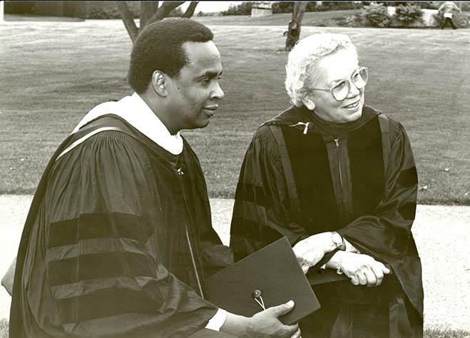 Seattle Mayor Norm Rice and Highline President Shirley Gordon, 1990