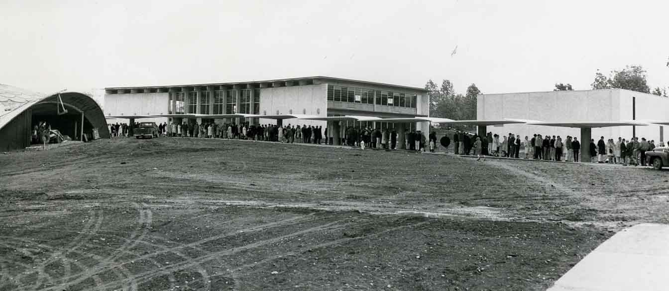 Highline College registration line, October 1964
