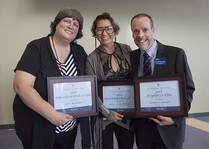 Judy Mannard, Patricia McDonald, Dr. Jonathan Brown