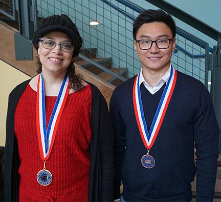 Valerie Saylor and Phong Ly, Highline College 2018 All-Washington Academic Team Representatives