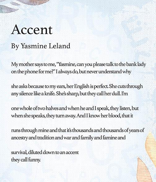 Accent by Yasmine Leland