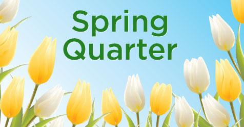 Spring quarter image of flowers