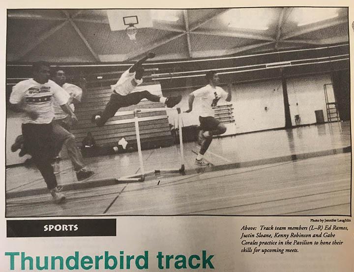 Thunderword newspaper photo April 1994
