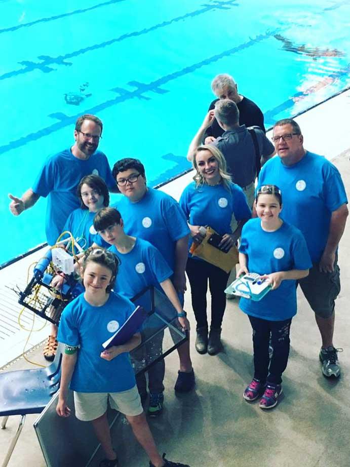 Geiger 5th grade ROV team