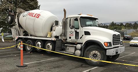 Photo of concrete truck
