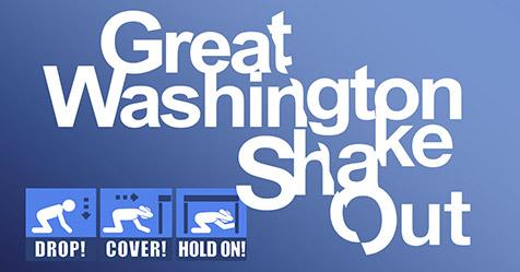 Great Washington Shake Out logo