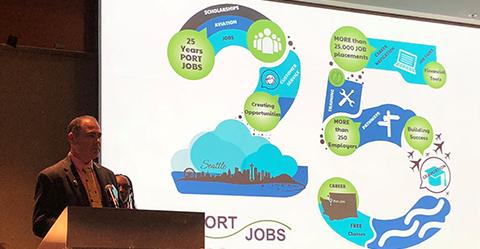 Photo of Josh Gerstman at Port Jobs 25th Anniversary Breakfast