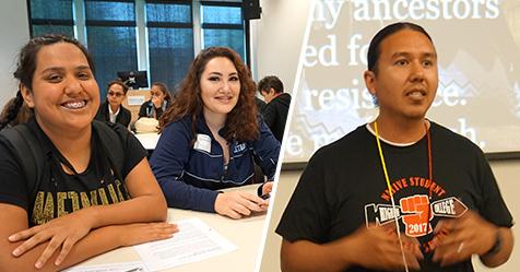 Students and presentors at previous Summits