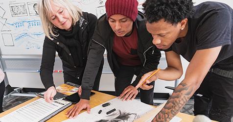 Photo of Art and Design program students