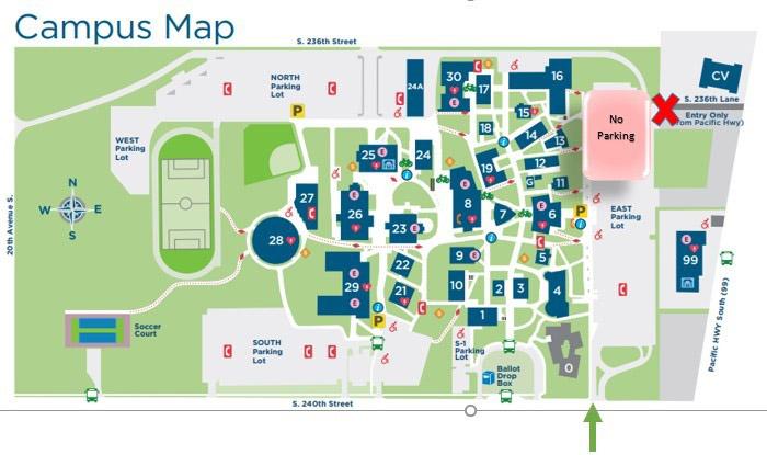 Highline College Campus Map