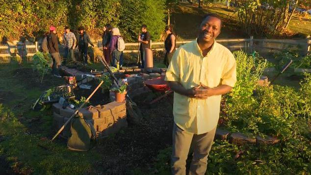 Highline College student Floribert Mubalama