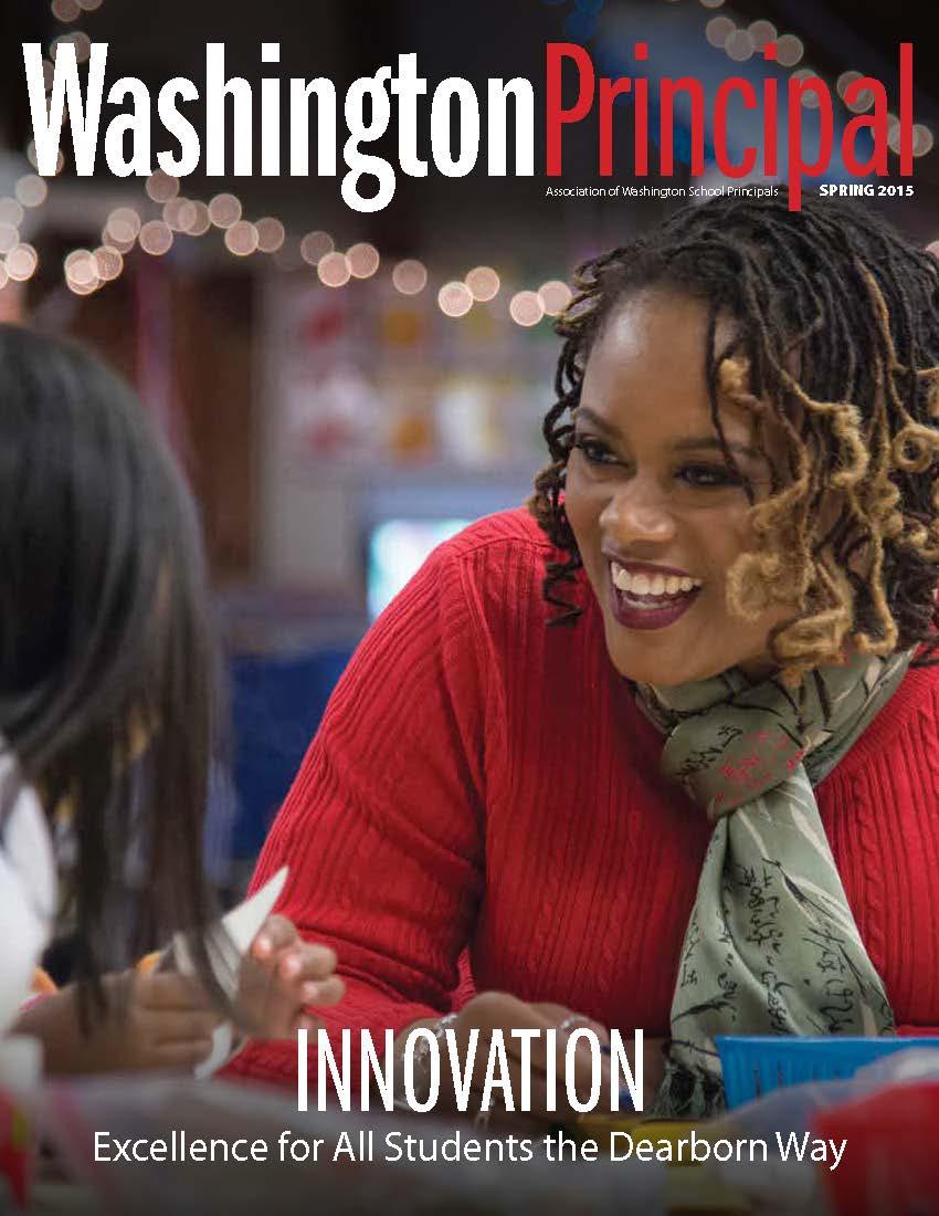 Cover of spring 2015 issue of Washington Principal magazine