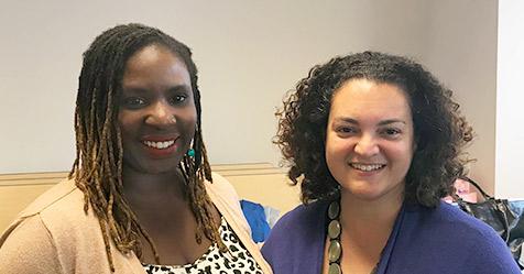 Samora Covington and Nicole Wilson, Highline College