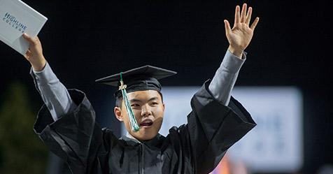 Graduate at Commencement 2019