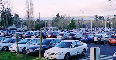 south parking lot